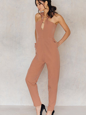 Jumpsuits & playsuits - Lavish Alice Abstract Metal Ring Plung Jumpsuit