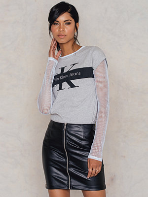 Kjolar - Rut & Circle Mickan PU zip skirt
