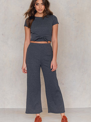 NA-KD Rib Knitted Culotte Pants