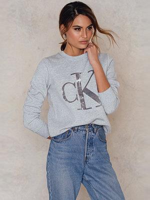Tröjor - Calvin Klein Honor Velvet Logo Sweatshirt