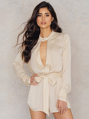Jumpsuits & playsuits - Toby Heart Ginger Silky Choker Playsuit