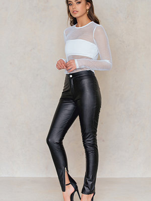 Vanessa Moe x NA-KD svarta byxor PU Leather Pants