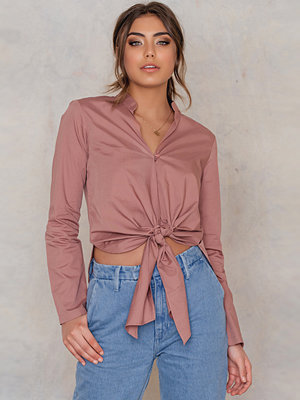 Blusar - NA-KD Tie Knot Blouse