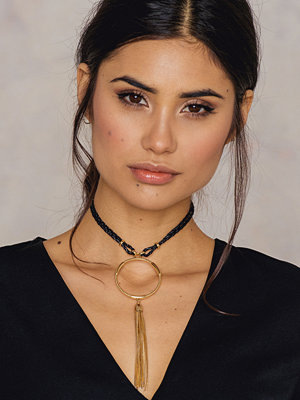 Chokers - NA-KD Accessories Braided Choker With Ring Pendant