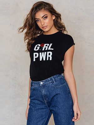 T-shirts - Josefin Ekström for NA-KD GRL PWR Rose T-shirt