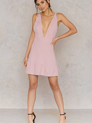 Toby Heart Ginger Plunging Neck Mini Dress