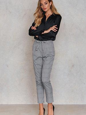 Glamorous grå rutiga byxor Oversized Ankle Pants