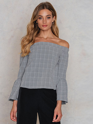 Glamorous Off Shoulder Smock Top grå