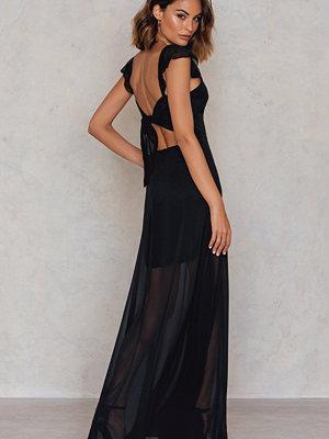 Trendyol Cut Out Sheer Maxi Dress