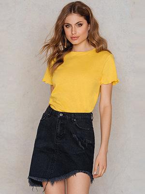 Trendyol Raw Hem Denim Skirt