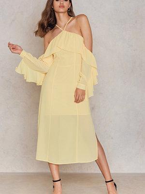 NA-KD Boho Frill A-neck Midi Dress