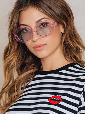 NA-KD Accessories Oval Sunglasses rosa blå multicolor
