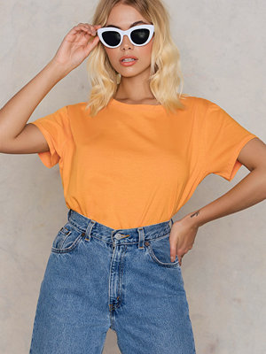 NA-KD Basic Basic Oversized Tee orange gul