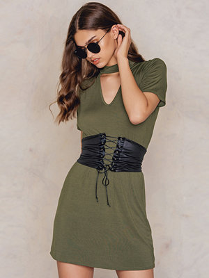 Boohoo Choker Corset T-Shirt Dress