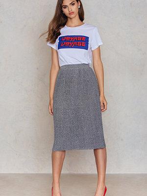 NA-KD Party Midi Pleated Sparkle Skirt