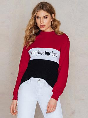 NA-KD Trend Baby Bye Bye Bye Sweater svart vit multicolor