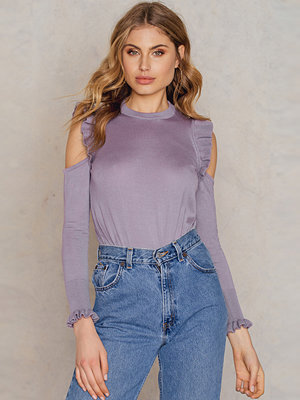 NA-KD Boho Cold Shoulder Frill Sweater