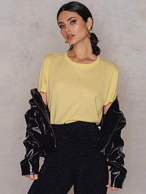 T-shirts - NA-KD Basic Basic Oversize T-Shirt gul