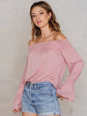 NA-KD Boho Off Shoulder Smock Top - Vardag