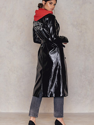 NA-KD Trend Patent Embroidery Long Coat