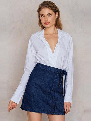 NA-KD Trend Overlap Denim Skirt