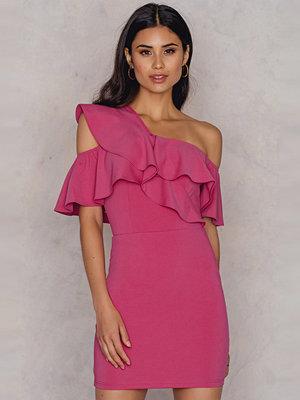 Rare London One Shoulder Frill Mini Dress