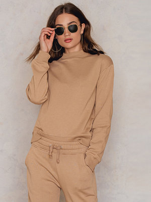 NA-KD Basic Basic Sweater beige