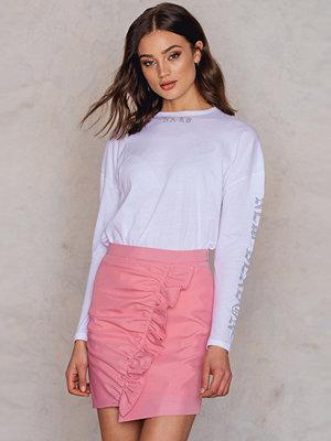 NA-KD Side Frill Mini Skirt rosa