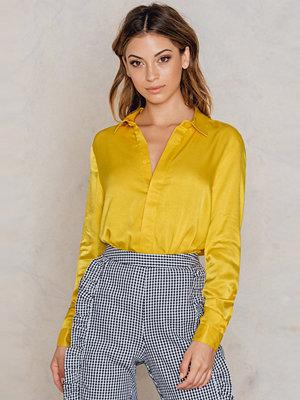 Skjortor - NA-KD Trend Satin Shirt