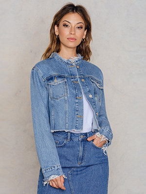 NA-KD Trend Raw Hem Short Denim Jacket