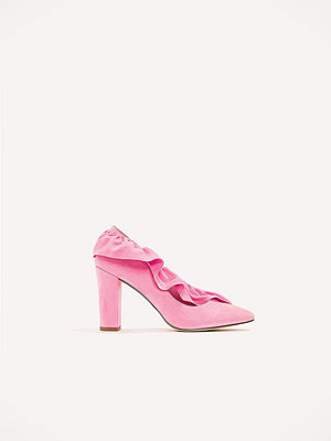 Pumps & klackskor - NA-KD Shoes Ruffle Mid Heel Pump