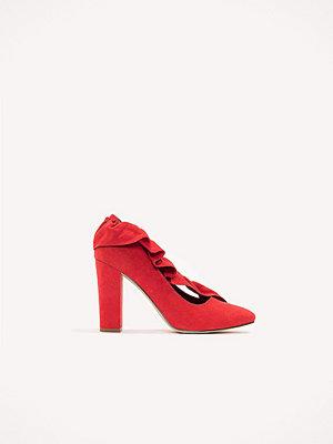 Pumps & klackskor - NA-KD Shoes Ruffle Mid Heel Pump