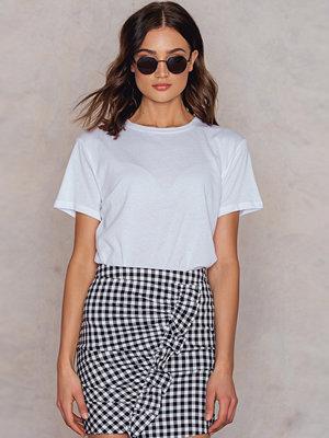 T-shirts - NA-KD Basic Basic Oversize T-Shirt vit