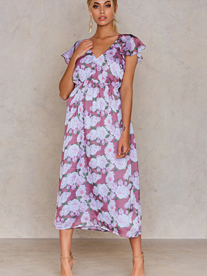 NA-KD Boho Frill Back Midi Dress