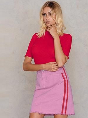 NA-KD Side Panel Denim Skirt - Minikjolar