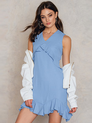 Trendyol Mavi Ruffle Dress
