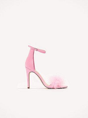 Pumps & klackskor - NA-KD Shoes High Heel Fur Sandalett