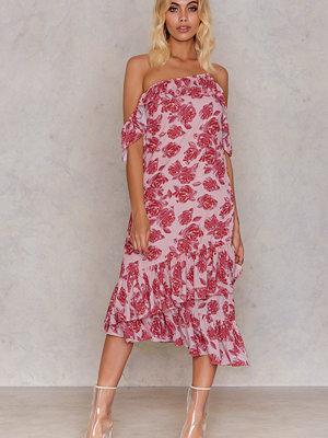 NA-KD Cold Shoulder Thin Strap Frill Dress multicolor
