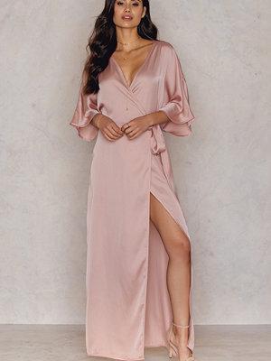 Hannalicious x NA-KD Kimono Mid Sleeve Maxi Dress