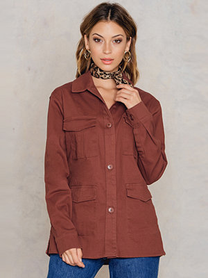 NA-KD Cotton Shirt Jacket