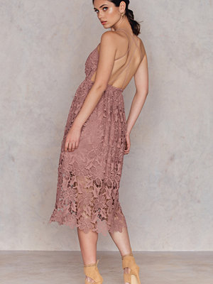 NA-KD Boho Crochet Strap Back Dress