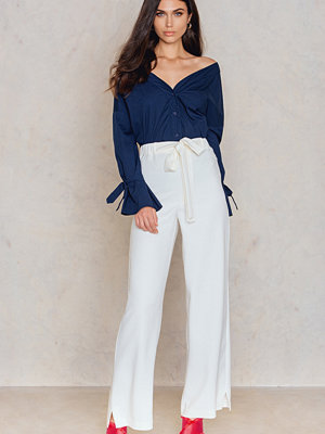 Lavish Alice vita byxor Split Side Trousers