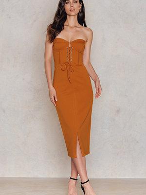 Lavish Alice Corset Detail Midi Dress