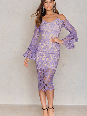 Lavish Alice Lace Bardot Midi Dress