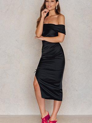 Lavish Alice Ruche Bandeau Midi Dress