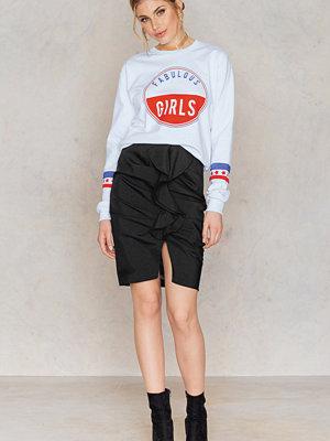 NA-KD Boho Mid Length Frill Skirt svart