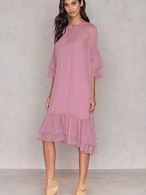 NA-KD Boho Layered Dress rosa