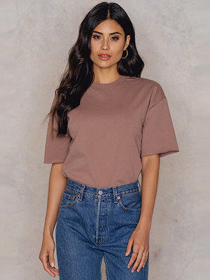 NA-KD Basic Oversized Short Sleeve Sweatshirt