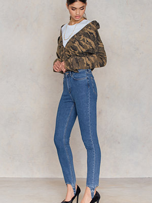 NA-KD Stirrup Denim Trousers blå