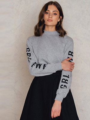 Josefin Ekström for NA-KD GRL PWR Sleeve Sweater grå